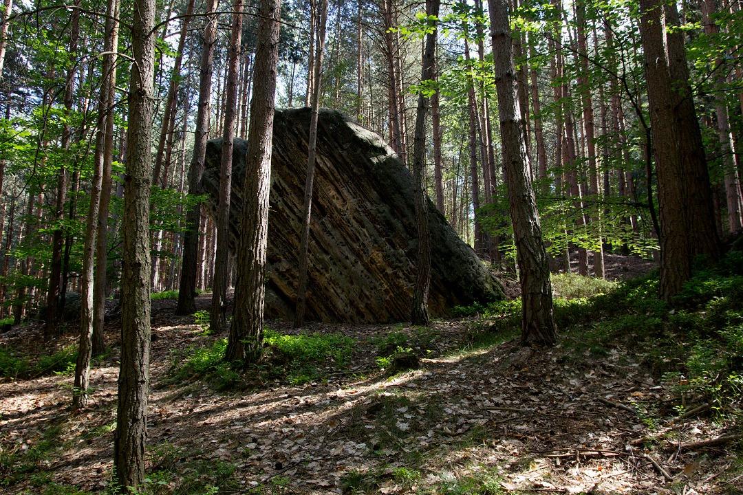 Cestou na Kozlov se objevují první skály